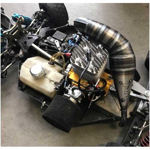 Losi 5ive-T V2 unsilenced Reso System für ALX Motoren