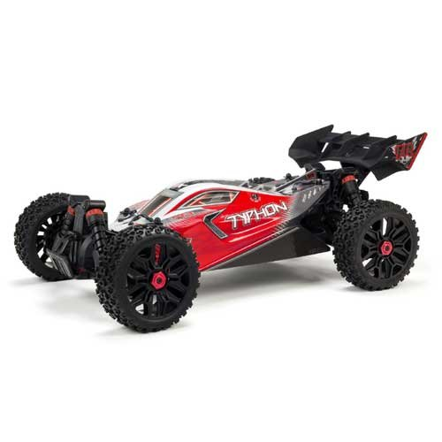Arrma 1/8 TYPHON 3S BLX 4WD Brushless Buggy, red