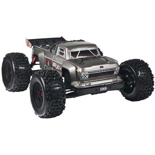 ARRMA 1/8 OUTCAST 4WD BLX Brushless Stunt Truck 6S RTR, Silber