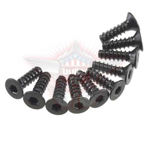 AXA465 Hex Socket Tap Flat Head M3x10mm Black