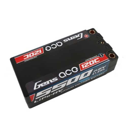 Gens ace 5500mAh 7.6V High Voltage 120C Lipo65#