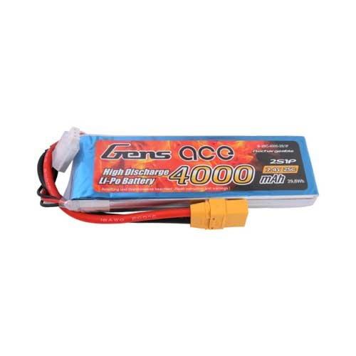 Gens ace 4000mAh 7.4V 25C 2S1P Lipo Pack mit XT90
