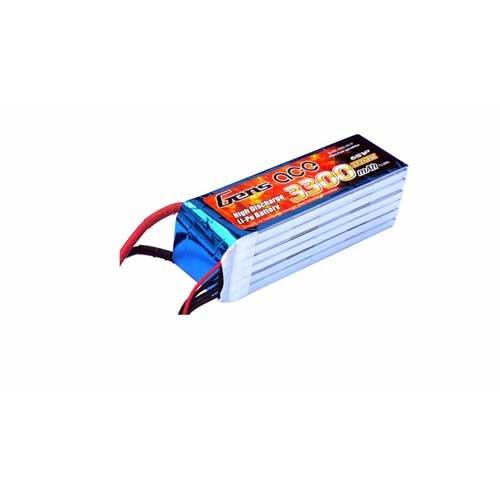 Gens ace 3300mAh 22.2V 45C 6S1P Lipo Pack