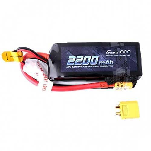 Gens ace 2200mAh 7.4V 50C 2S1P Lipo XT60 Stecker