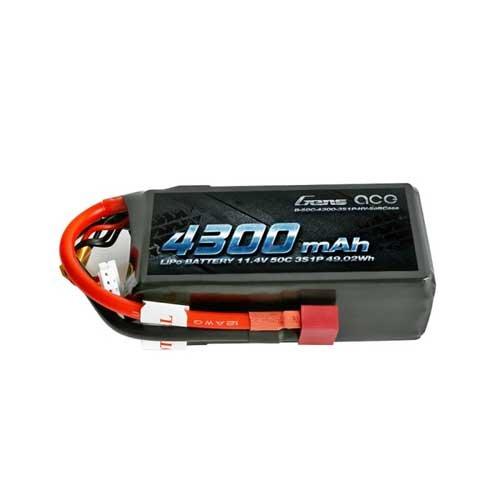 Gens ace 4300mAh 3S1P 11.4V 50C Lipo Akku Softcase