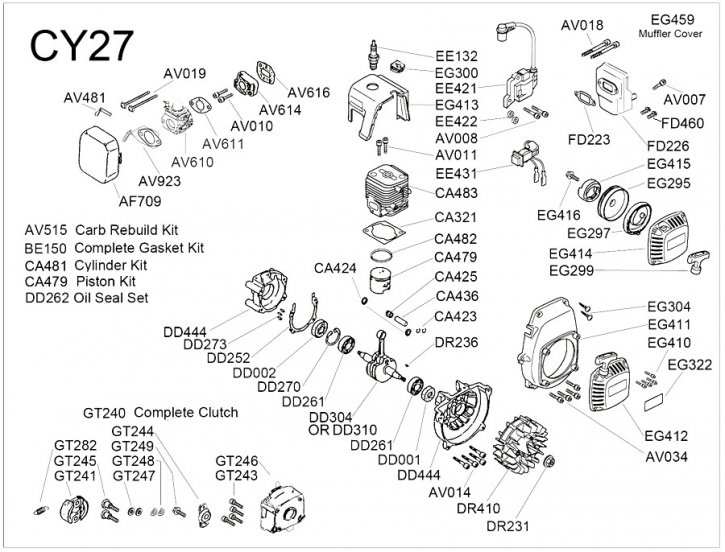 Chung Yang 27 Explosionszeichnung