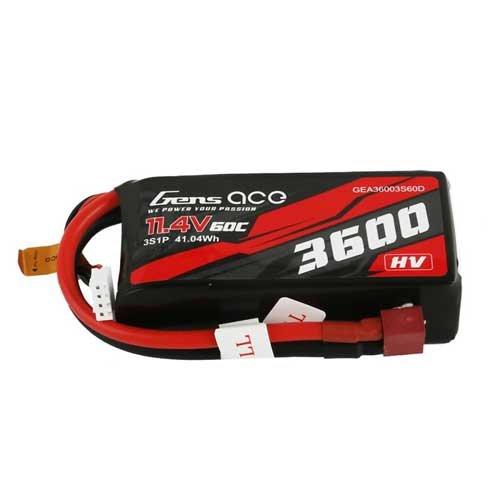 Gens ace 3600mAh 11.4V 3S1P 60C High Voltage Lipo
