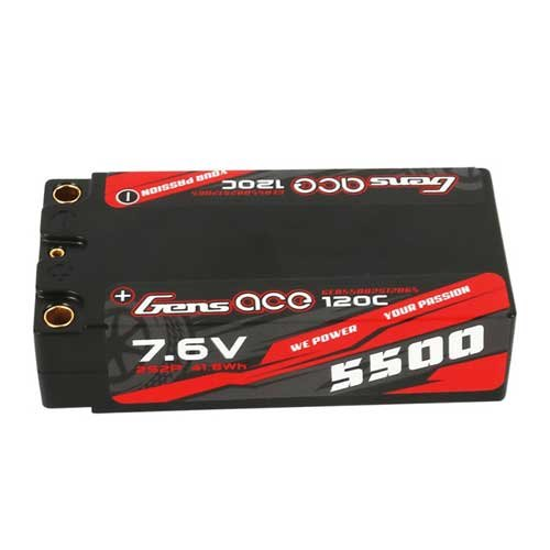 Gens ace 5500mAh 7.6V High Voltage 120C 65#