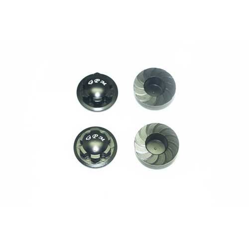 GPM ALUMINUM WHEEL LOCK -4PC SET black