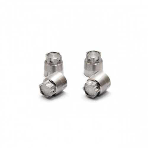 Hobao CNC Alu. Flange Nuts For Wheel (4mm), 4 Pcs