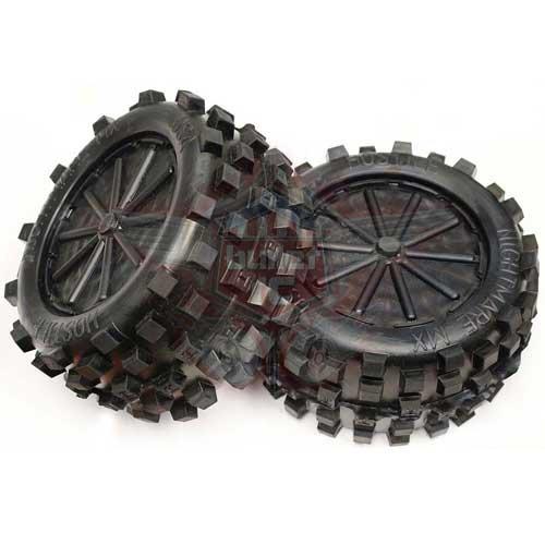 Hostile hintere Mini MX V2 Reifen HPI Baja 5b Extra Hart