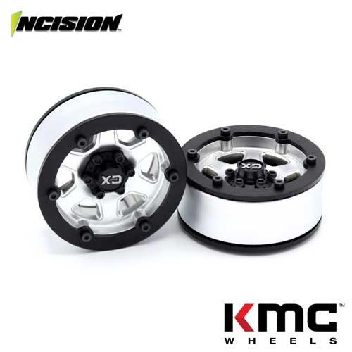 Incision 1.9 KMC KM233 Hex Black Silver Plastic