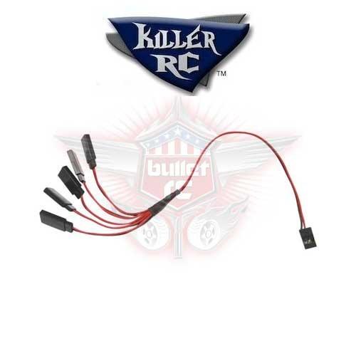 Killer RC 5-Wege Y-Kabel für JR/Futaba/Hitec Servos