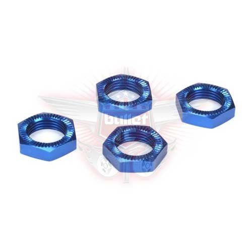 Wheel Nuts, Blue Anodized (4): 5IVE-T, MINI WRC