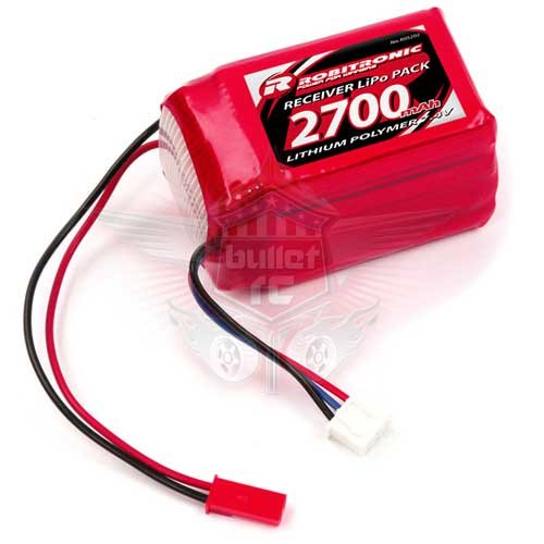 LiPo 7,4V, 2700mAh, 2/3A Hump Empfängerpack (EH)