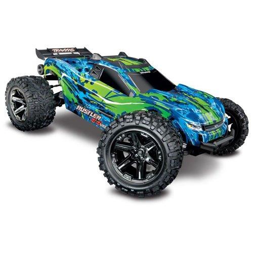 TRAXXAS Rustler 4x4 VXL grün/blau RTR TRX67076-4