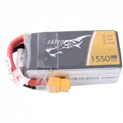 TATTU 4S 1550mAh 45C14.8V Lipo Pack XT60