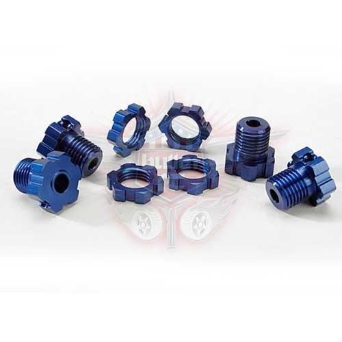 Traxxas Radmitnehmer 17mm gesplintet Revo blau