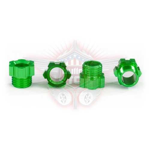 Traxxas Stub-Achsen-Mutter Alu grün eloxiert TRX8886