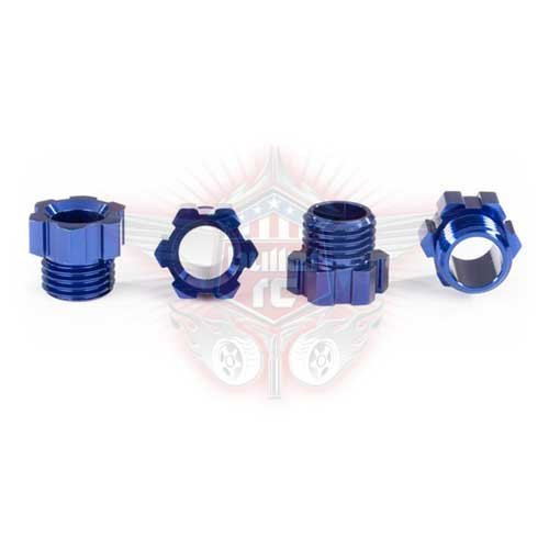 Traxxas Stub-Achsen-Mutter Alu blau eloxiert