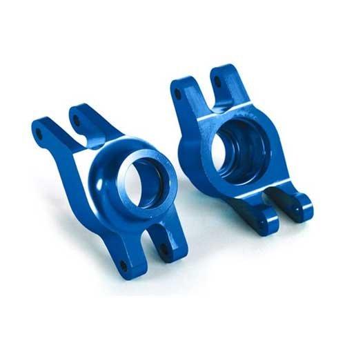Traxxas Maxx Rädträger hinten l/r Alu blau TRX8952X