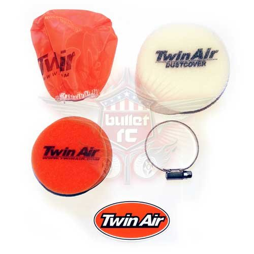 Twin Air 1/6 Dual Stage Luftfilter Set 75x40mm Losi 5ive