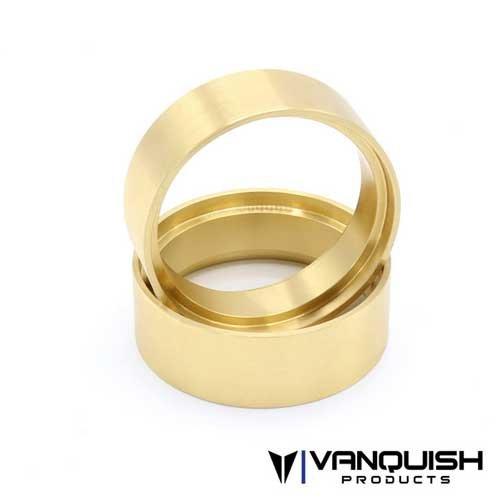 """Vanquish 1.9 Brass 1.0"""" Wheel Clamp Rings (Pair)"""