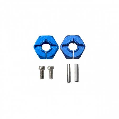 X-Rider Radmitnehmer Blau Aluminium (2 Stk.)
