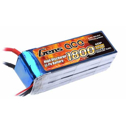 Gens ace 4s 1800mah Lipo 14.8V 40C B-40C-1800-4S1P
