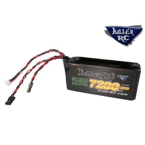 KillerRC 7200mAh 7,4V LiPo RX Akku Losi 5ive-T