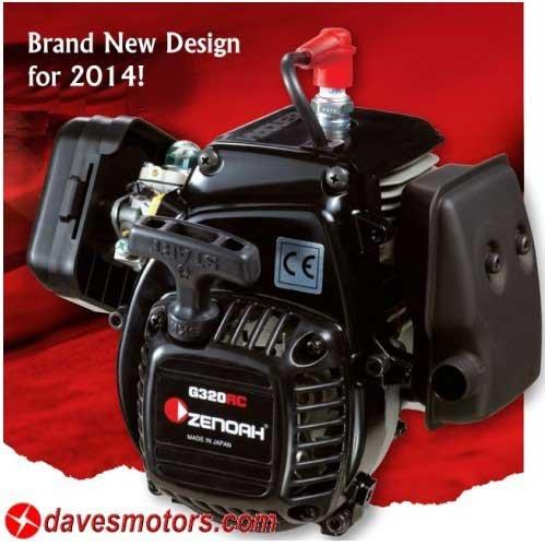 """ESP Ported Zenoah """"G340RC"""" 34.02cc 4-Bolt Motor"""