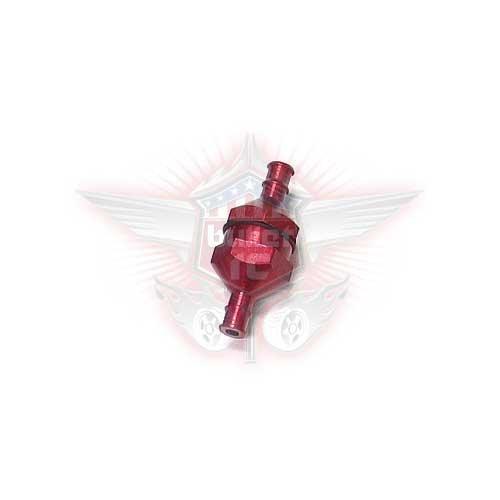 DDM Aluminium Benzinfilter rot