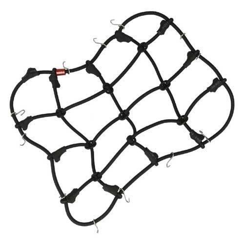 Scaler Gepäcknetz mit Haken Schwarz (150mmx120mm)