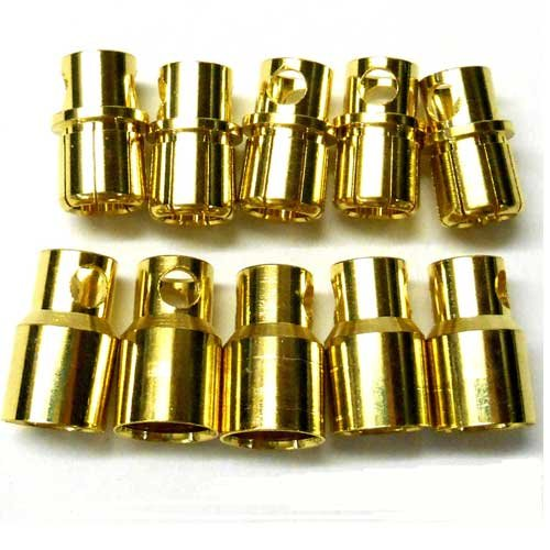 RC Connector 8mm Gold Plated Male/Female Bullet