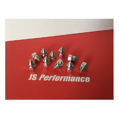 JS Performance Vekta Pointed / Spiked Alloy Nuts M8
