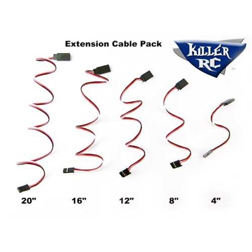 Killer-RC Servo Verlängerungskabel Pack