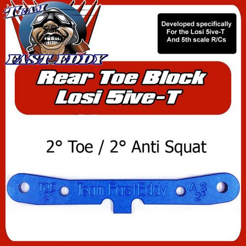 Team FastEddy 2° Spur 2° Anti Squat Block Losi 5ive hinten