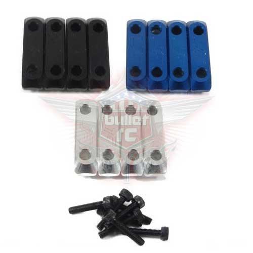 Jofer RC Aluminum Servo Klammern für Losi 5ive schwarz