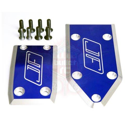 Jofer RC Aluminum Skid Plate Set für Losi 5ive blau