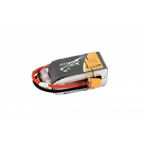 TATTU 1550mAh 14.8V 75C 4S1P Lipo Pack XT60