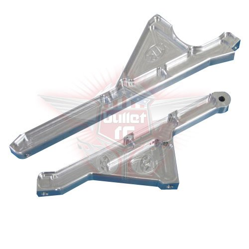Turtle Racing HD Chassis Strebe für Losi 5ive silber