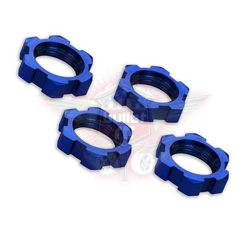 Traxxas Mutter Splined 17mm Serrated Blau TRX7758
