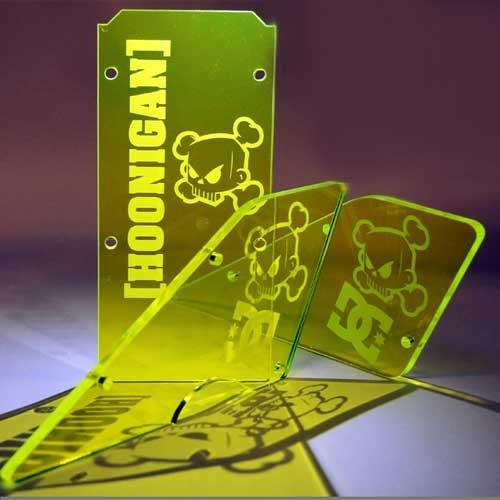 Uberrc Laser graviertes 5mm Scheiben Set Neongrün