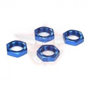 Wheel Nuts, Blue Anodized (4): 5IVE-T, MINI WRC